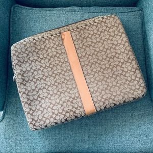 Coach Laptop/Paper Case